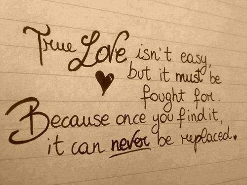 Never be Replaced Love Quotes for Her