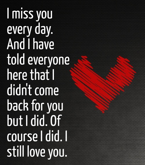 I Miss You Love Quotes for Her