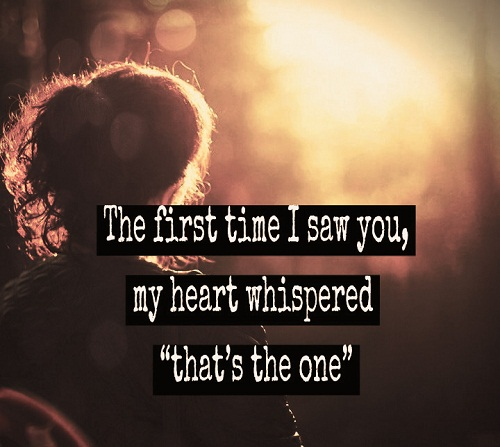 First Time Love Quotes for Her