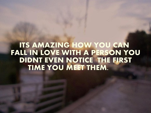 Fall in Love with a Person Love Quotes for Her