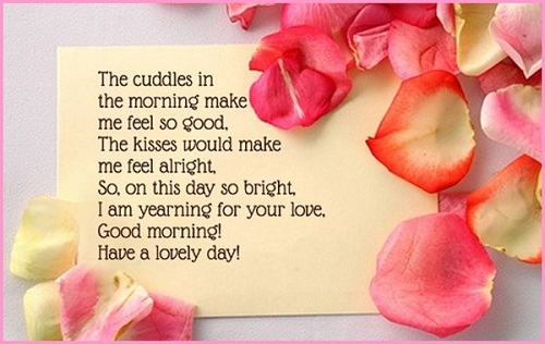 Cuddles in the Morning Love Quotes for Her
