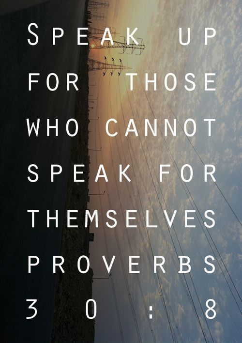 Speak up Bible Quotes