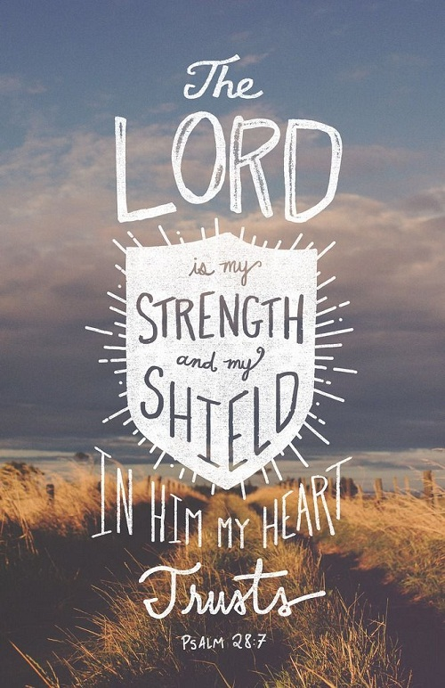 The Lord is my Strength Bible Quotes