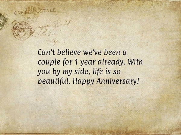 Anniversary Quotes For Boyfriend Of 1 Year