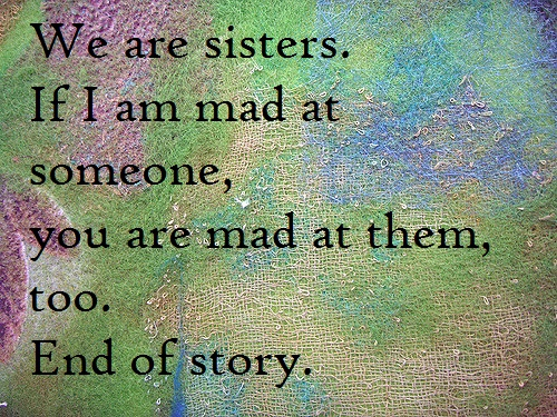 Mad at Someone Sister Quotes