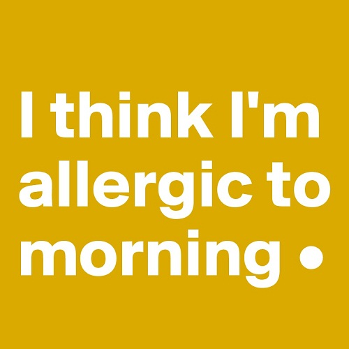 Allergic Funny Good Morning Quotes