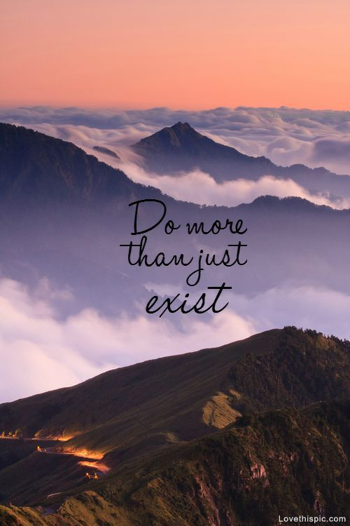 Do More than Just Exist Amazing Quotes