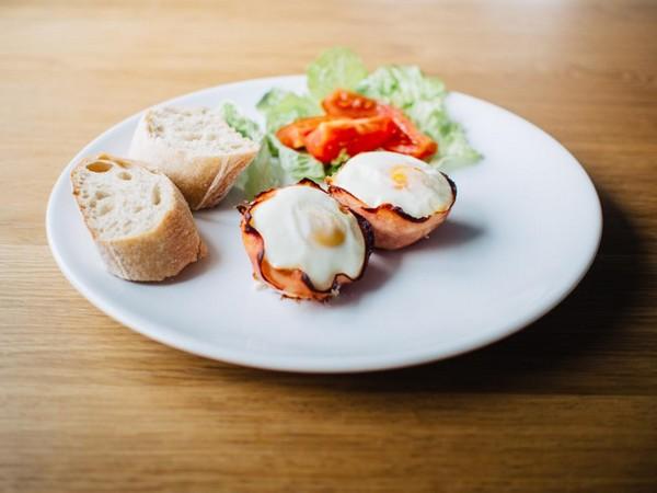 breakfast eggs bread good morning images