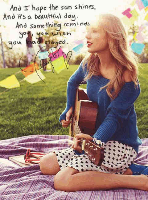 A Taylor Swift i miss you quotes.