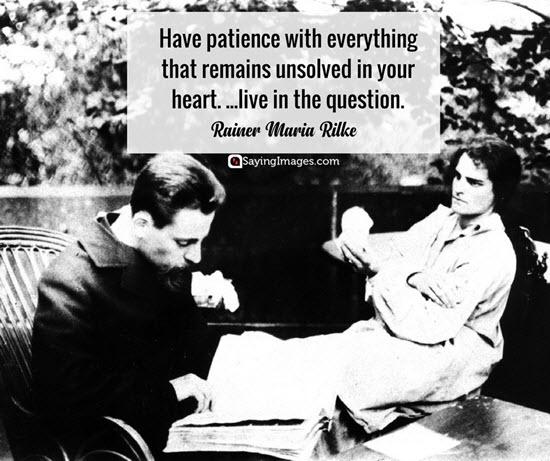 rainer maria rilke quotes patience