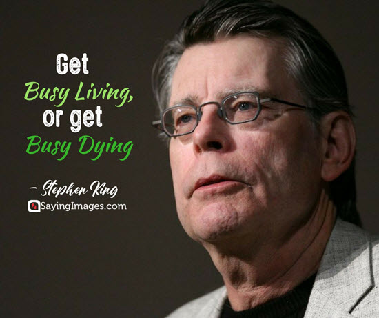 stephen king busy quotes