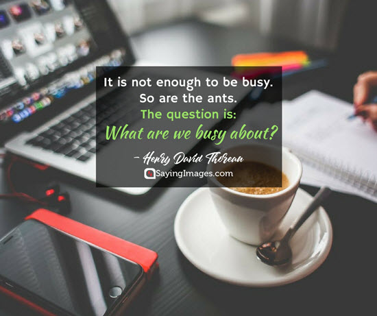 quotes busy