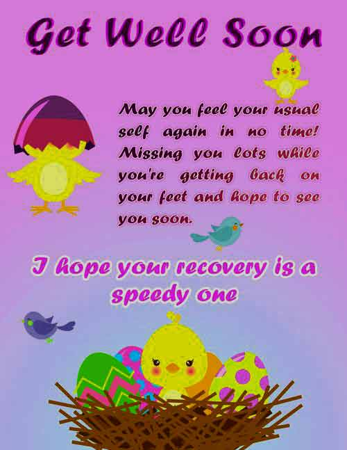 get well soon message for friend