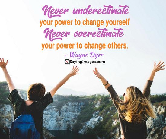 wayne dyer underestimate quotes