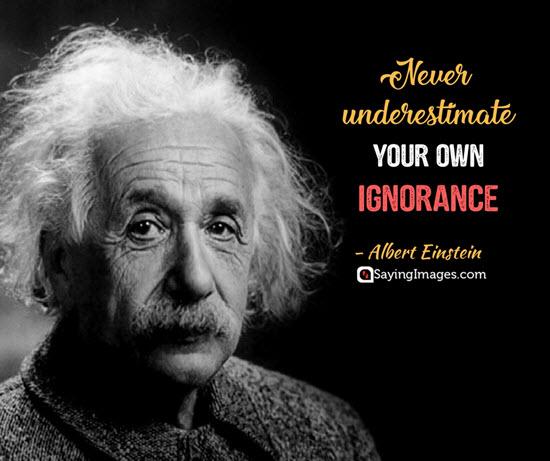albert einstein underestimate quotes