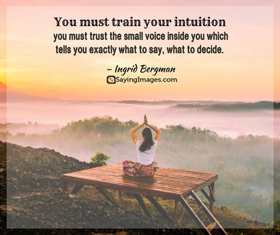 ingrid bergman intuition quotes