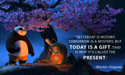Today Is A Gift Master Oogway Daily Quotes Sayings Pictures