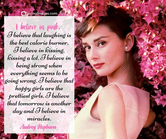 audrey hepburn pink quotes