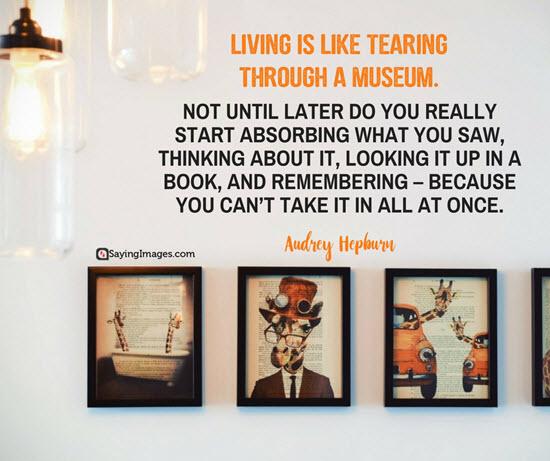 audrey hepburn living quotes