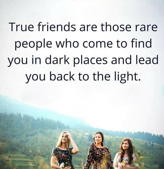 Friendship Quote On True Friends
