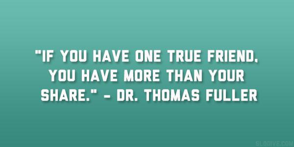Friendship quote true friend