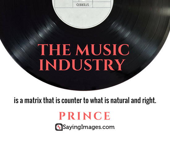 prince music industry quotes