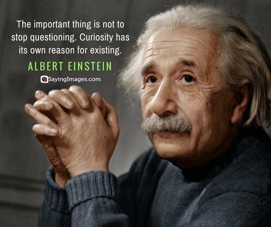 albert einstein curiosity quotes